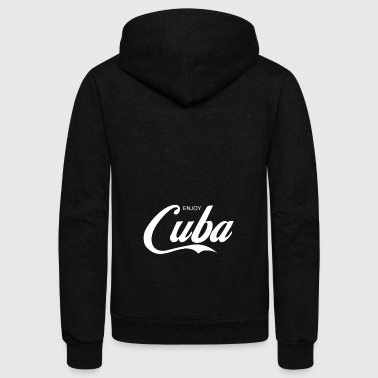 enjoy CUBA - Unisex Fleece Zip Hoodie by American Apparel