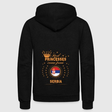 love princesses come from SERBIA - Unisex Fleece Zip Hoodie by American Apparel