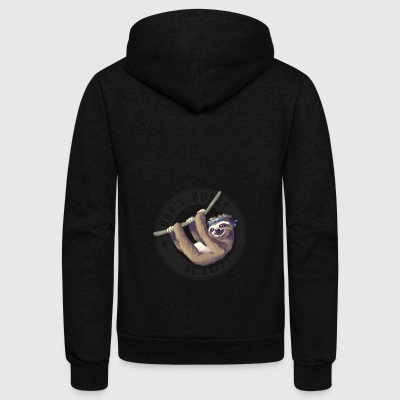sloth animal don't hurry nerd pc relaxed chill lol - Unisex Fleece Zip Hoodie by American Apparel