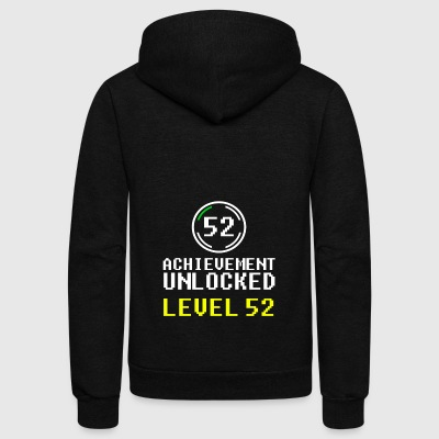 achievment level 52 - Unisex Fleece Zip Hoodie by American Apparel
