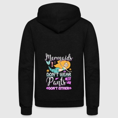 Mermaid Woman Pants Skirt present - Unisex Fleece Zip Hoodie