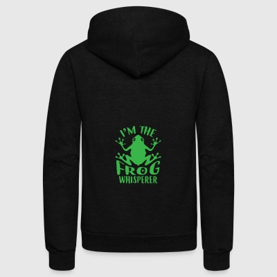 I'm The Frog Whisperer - Unisex Fleece Zip Hoodie by American Apparel