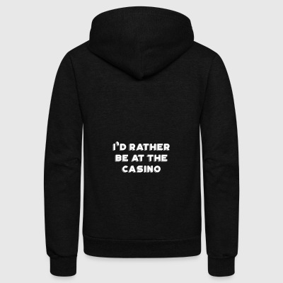 Funny Gambling gift for Poker Players - Unisex Fleece Zip Hoodie by American Apparel