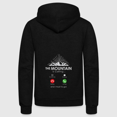 The Mountain is Calling - Unisex Fleece Zip Hoodie by American Apparel