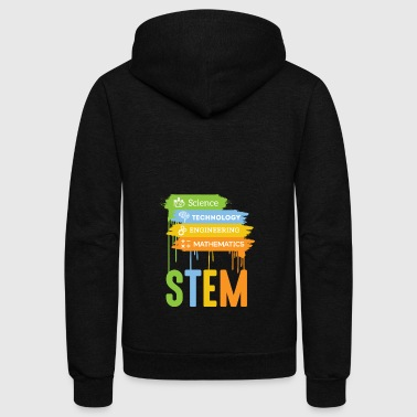 STEM Science Technology Engineering Math School - Unisex Fleece Zip Hoodie