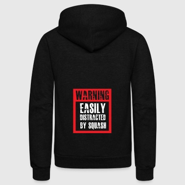 Squash Addicted gift for Squash Players - Unisex Fleece Zip Hoodie