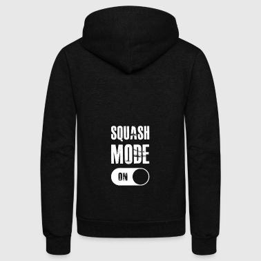 Squash Mode On gift for Squash Players - Unisex Fleece Zip Hoodie