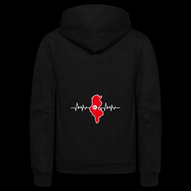 Tunisia heartlines islam - Unisex Fleece Zip Hoodie