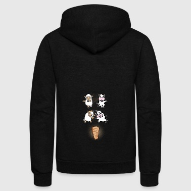 (Gift) Cow and sheep fusion - Unisex Fleece Zip Hoodie