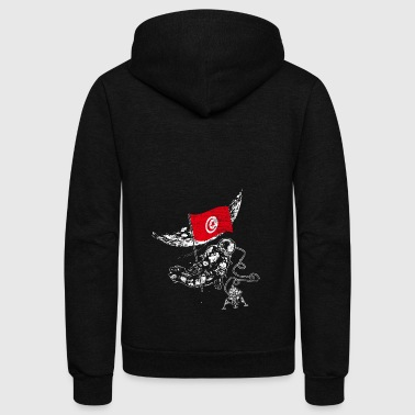 Tunisia flag - Unisex Fleece Zip Hoodie