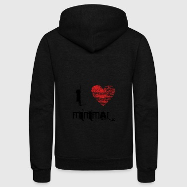 i love minimal techno dubstep - Unisex Fleece Zip Hoodie