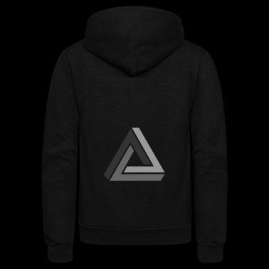 optical illusion - Unisex Fleece Zip Hoodie