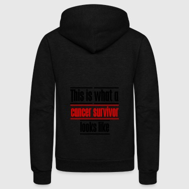 This Is What A Cancer Survivor Looks Like - Unisex Fleece Zip Hoodie