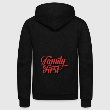 Family First | Strong Family, Strong Nation - Unisex Fleece Zip Hoodie