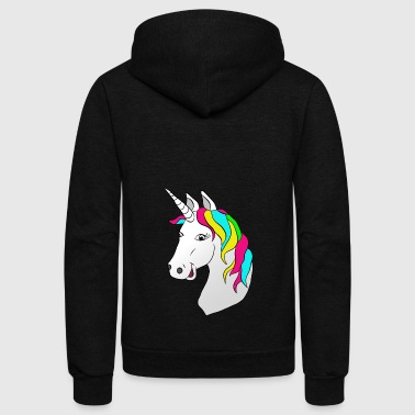 Unicorn - Unisex Fleece Zip Hoodie
