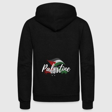 Palestine flag free gaza middle east gift - Unisex Fleece Zip Hoodie