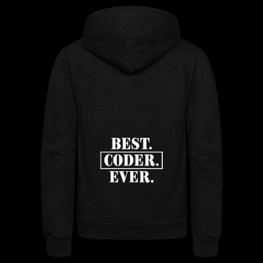 Cool Costume For Coder. Shirt From Kids For Dad/Br - Unisex Fleece Zip Hoodie