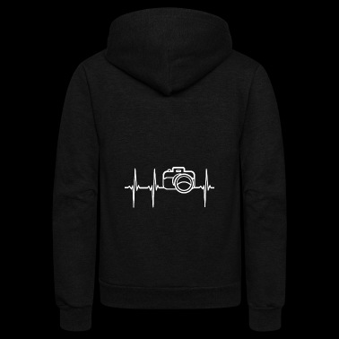 Photography Heartbeat - Unisex Fleece Zip Hoodie