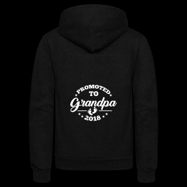 Promoted To Grandpa 2018 | Promoted To Grandpa - Unisex Fleece Zip Hoodie