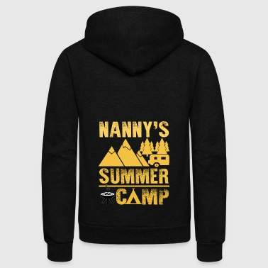Nanny's Summer Camp T Shirt - Unisex Fleece Zip Hoodie