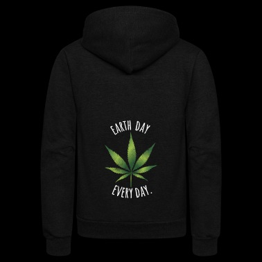 Earth Day Every Day T-Shirt - Unisex Fleece Zip Hoodie