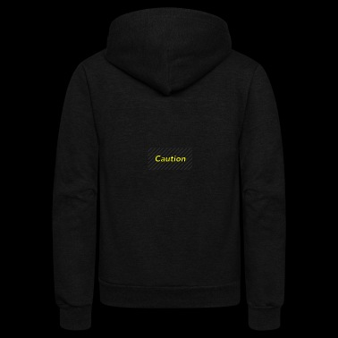 Caution - Unisex Fleece Zip Hoodie