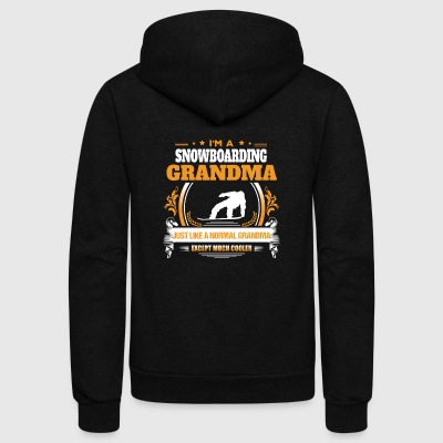 Snowboarding Grandma Shirt Gift Idea - Unisex Fleece Zip Hoodie by American Apparel