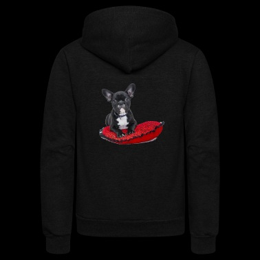 French Bulldog (puppy) - Unisex Fleece Zip Hoodie