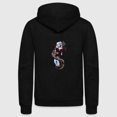 Red Manga Dragon - Unisex Fleece Zip Hoodie