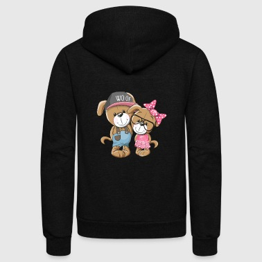 love dog clothes smile - Unisex Fleece Zip Hoodie