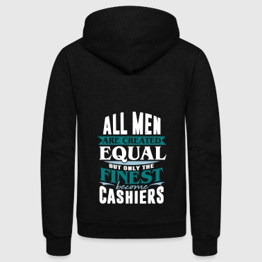cashier bank cash money - Unisex Fleece Zip Hoodie