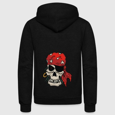 Pirate Skull - Unisex Fleece Zip Hoodie