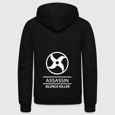 Mobile Legends Assassin white - Unisex Fleece Zip Hoodie by American Apparel