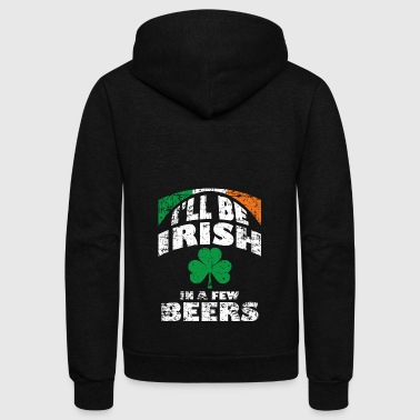 Wait a minute! After a few beers, I'm Irish. - Unisex Fleece Zip Hoodie