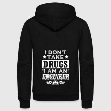 Funny Engineer Engineering Shirt No Drugs - Unisex Fleece Zip Hoodie