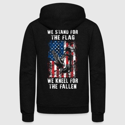 We Stand For The Flag TShirt - Unisex Fleece Zip Hoodie by American Apparel