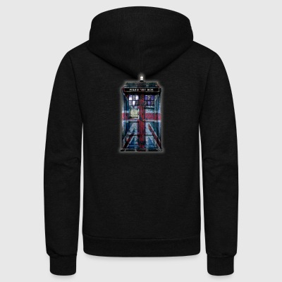 British Phone Box - Unisex Fleece Zip Hoodie by American Apparel