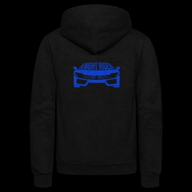 Blue Super Sports Car - Unisex Fleece Zip Hoodie
