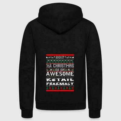 2017 1st Christmas Awesome Retail Pharmacy - Unisex Fleece Zip Hoodie by American Apparel