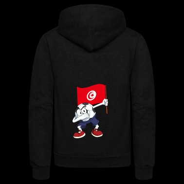Tunisia Dabbing Soccer Ball - Unisex Fleece Zip Hoodie