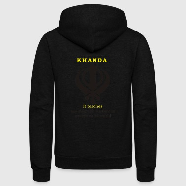 SIKH KHANDA T SHIRTS - Unisex Fleece Zip Hoodie by American Apparel