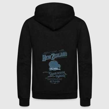 new zealand long white cloud - Unisex Fleece Zip Hoodie