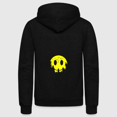 Smiling moon - Unisex Fleece Zip Hoodie