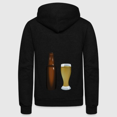beer - Unisex Fleece Zip Hoodie by American Apparel