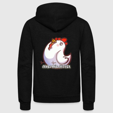 Chabo the Chicken - Unisex Fleece Zip Hoodie