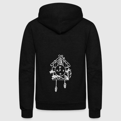 Cuckoo Clock - Unisex Fleece Zip Hoodie by American Apparel