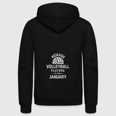 Volleyball Players - Unisex Fleece Zip Hoodie by American Apparel