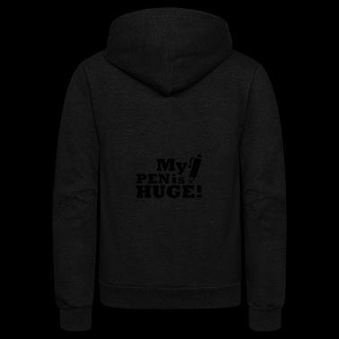 Huge Pen - Unisex Fleece Zip Hoodie