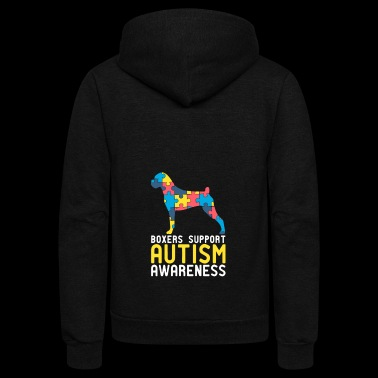 Boxers Support Autism Awareness - Unisex Fleece Zip Hoodie