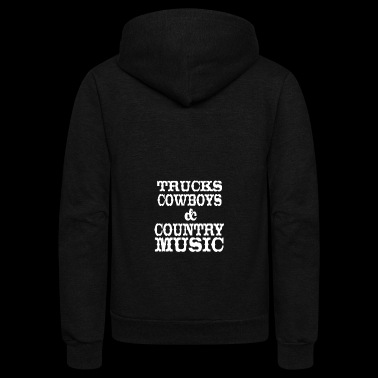 Trucks Cowboys Country Music - Unisex Fleece Zip Hoodie